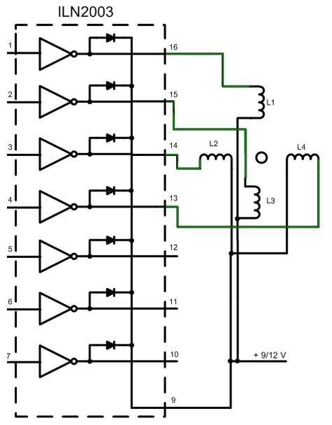 Электрическая схема управления двигателя пылесоса.