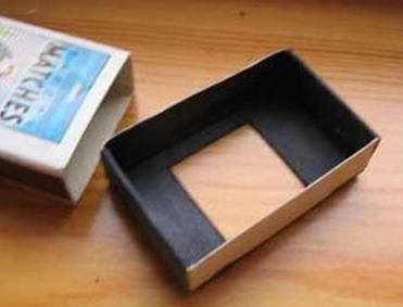 Отверстие в спичечном коробке